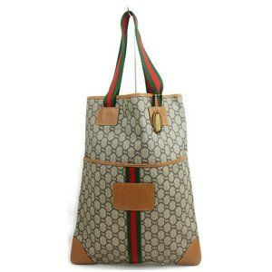 Auth Gucci Sherry Line Tote Bag Brown #5090G18